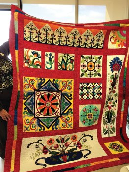 This quilt was made by Patty Foley.