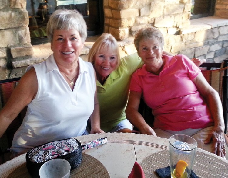Allie DeValk, Mona Rod and Elaine Dormer took first place in the Robson Ranch 9-hole Lady Lynx Holiday Scramble.