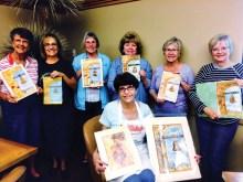 Maxine Harrison's watercolor class