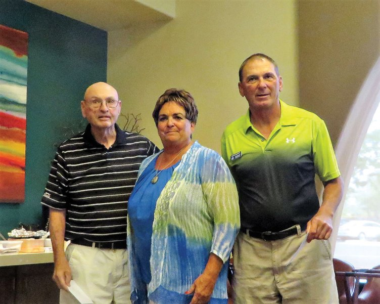 Left to right: Dave Wheeler, Babs Barney-Steeves and Grant Simmons