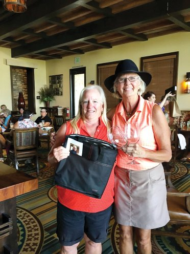 Second Flight winner: Low Gross, Patty Bruchez (presented by Betty Kumbera, Assistant Tourney Chair)