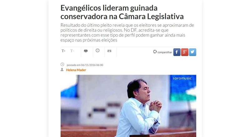 Bispo Rodovalho fala sobre resultado das eleições 2016 ao Correio Braziliense
