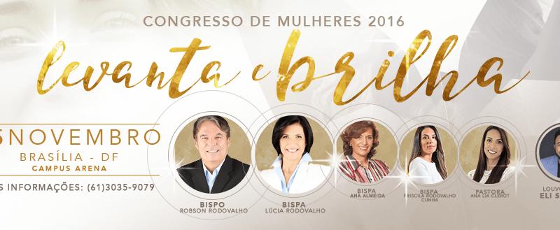 Bispo Rodovalho convida para o Congresso de Mulheres Vencedoras em Brasília/DF