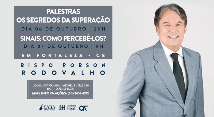 Dias 06 e 07 de outubro tem palestras com Bispo Rodovalho em Cuiabá