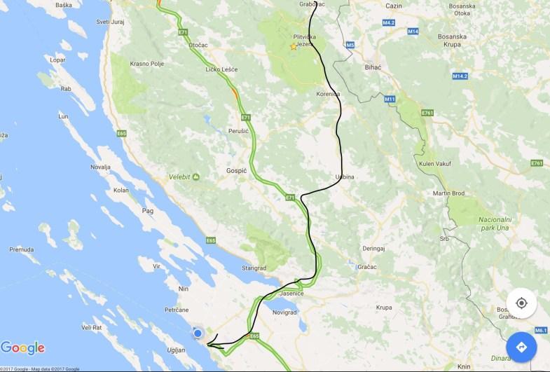 Grabovac to Zadar