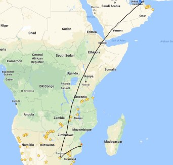Mozambique to Dubai