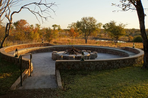 Fire pit overlooking the watering hole
