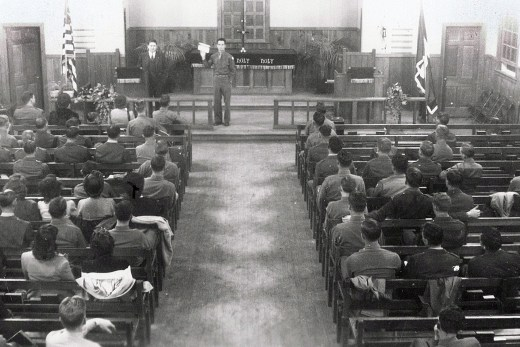 Church Service in the 1940's
