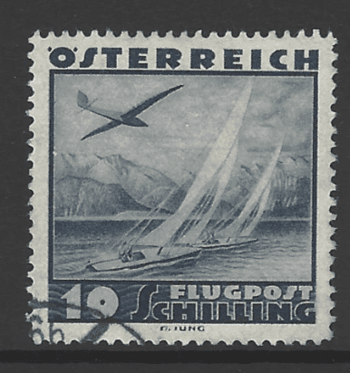 Austria SG 777, the 10 schilling value from the 1935 Air issue, fine used