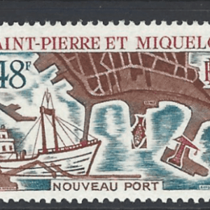 SG 444, Unmounted Mint, St Pierre et Miquelon Stamps