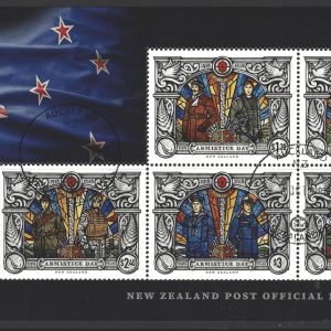 Armistice Day 2018 Mini Sheet. New Zealand Stamps