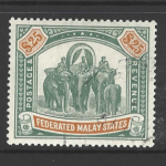 Federated Malay States, SG 51, Fiscal Cancel,