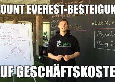 Mount Everest Besteigung auf Geschäftskosten