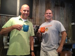 Rob & Chris make first ever cup of coffee at The Well