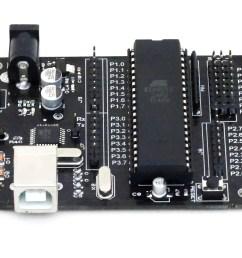 aryabhatta 8051 development board at89s52 with onboard usb programmer [ 1586 x 1260 Pixel ]