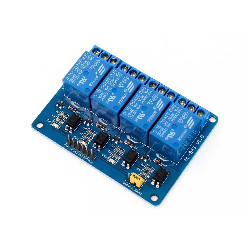 medium resolution of 4 road channel relay module with light coupling 24v robu in