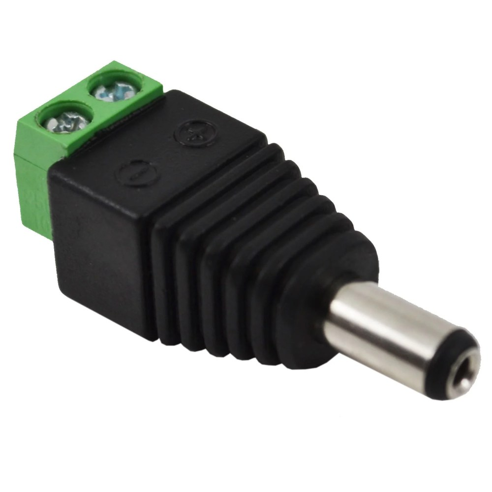 medium resolution of male female 2 1 5 5mm for dc power jack adapter connector plug for cctv