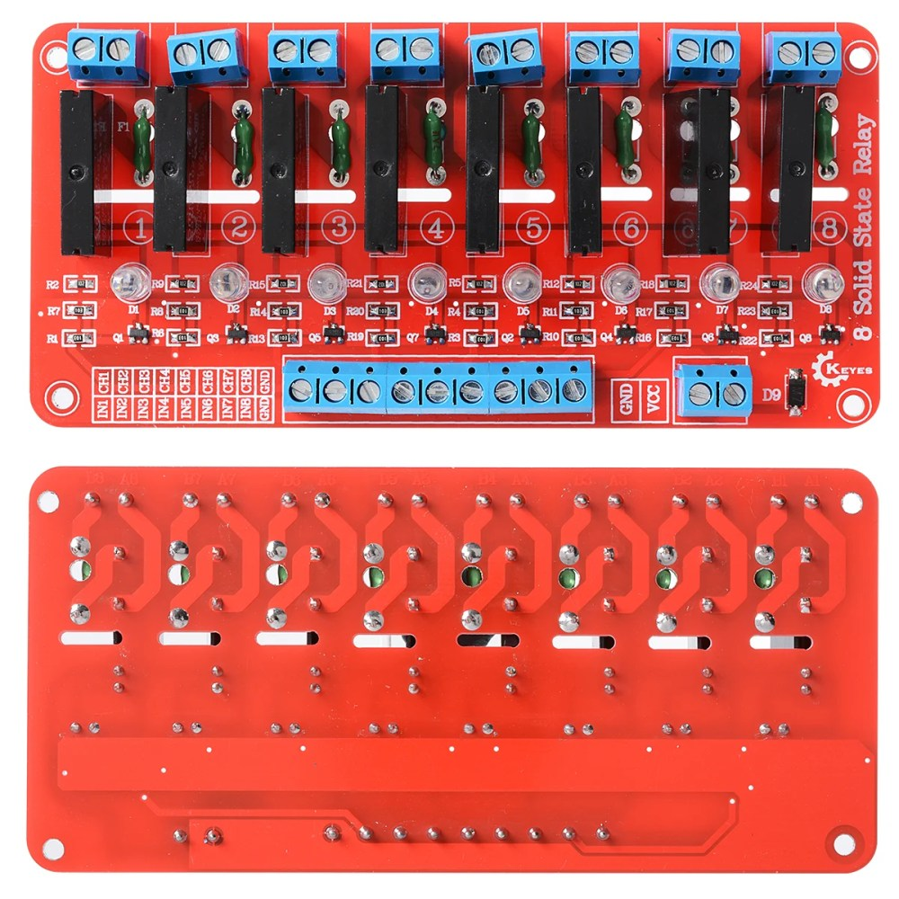 medium resolution of 8 channel 5v solid state relay module board omron for arduino robu in