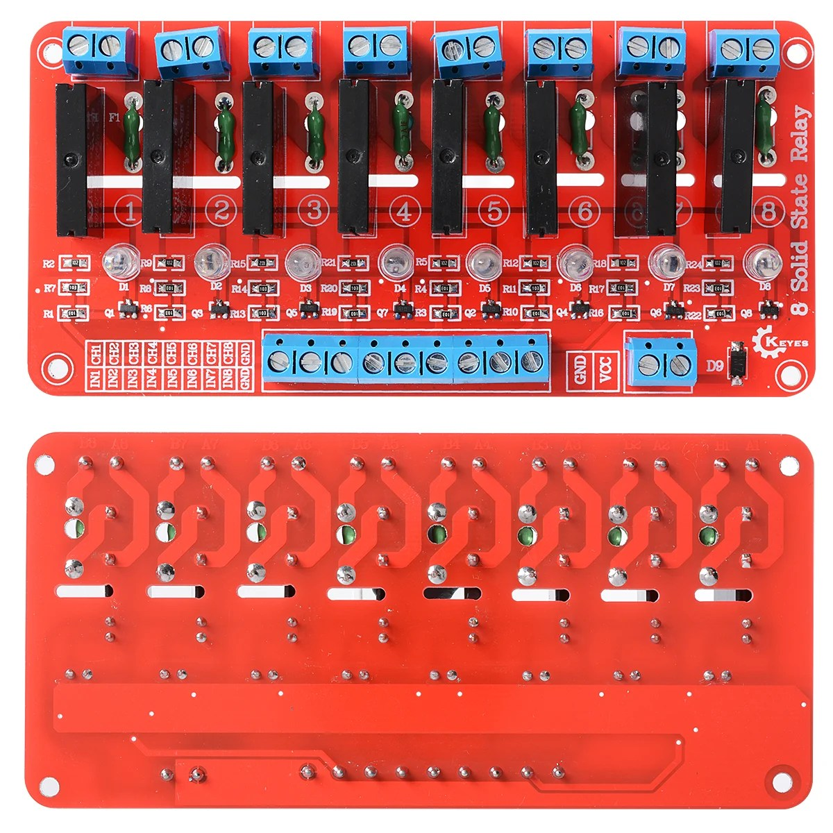hight resolution of 8 channel 5v solid state relay module board omron for arduino robu in