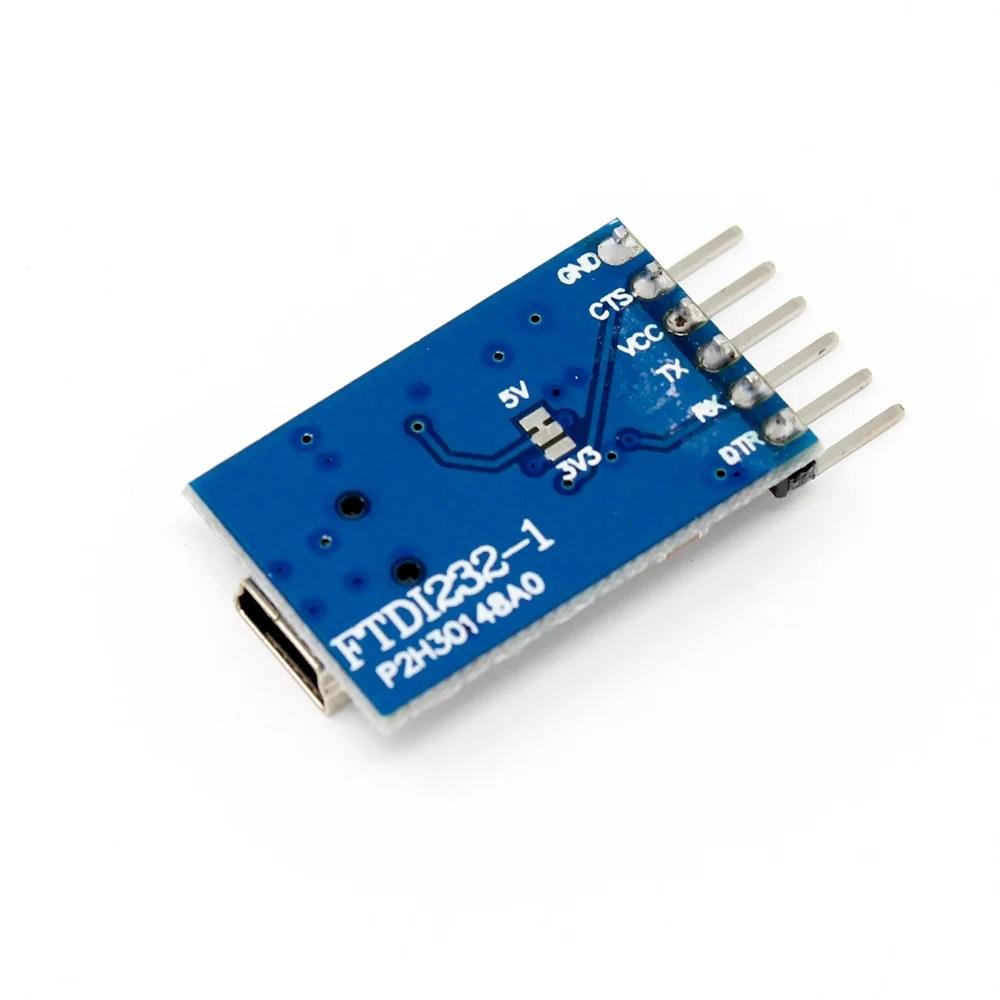 medium resolution of ttl ftdi transmitter usb for 3 3v 5v dual power ft232rl ftdi mwc programmer robu