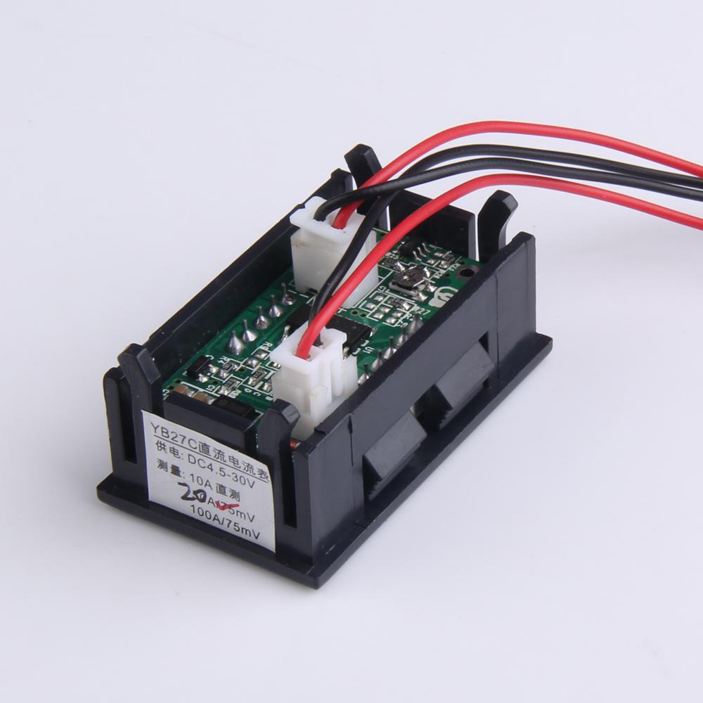 hight resolution of 0 28 inch dc 100v 100a led digital ammeter voltmeter with shunt