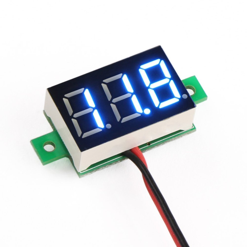 medium resolution of 0 28inch 3 5 30v two wire dc voltmeter blue robu in indian panel volt meter wiring diagram for