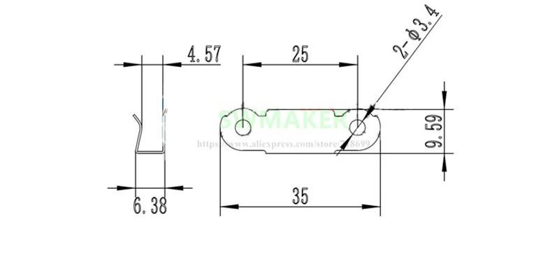 3D Printer Build Platform Glass Retainer Heated Bed Clip