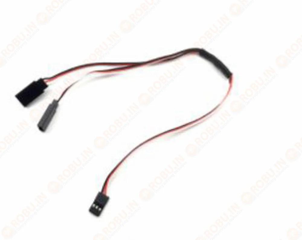 medium resolution of 1jr male to 2 futaba female y type servo extension wire