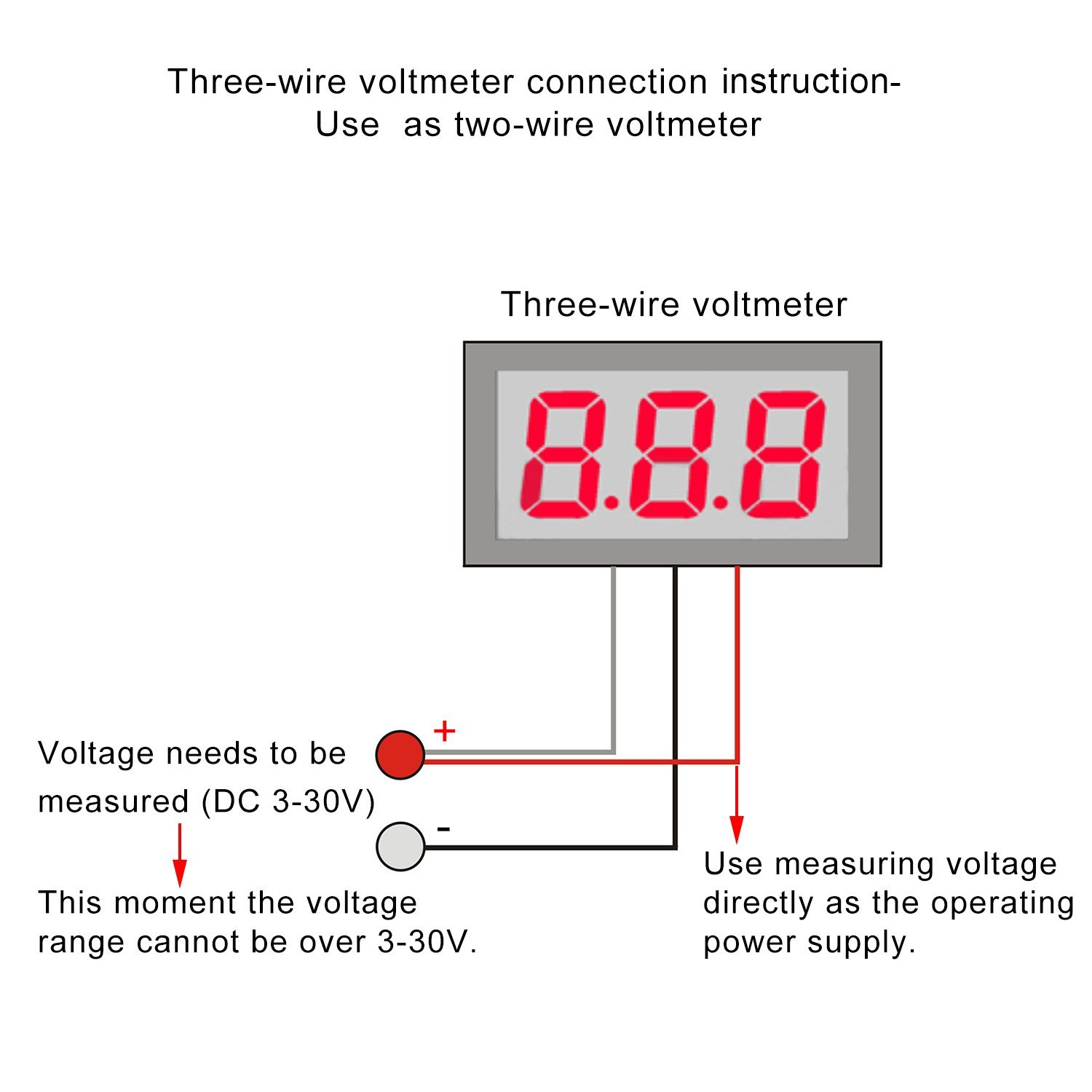 hight resolution of 0 28 inch 0 100v three wire dc voltmeter blue robu in indian wiring a voltmeter gauge wiring a voltmeter