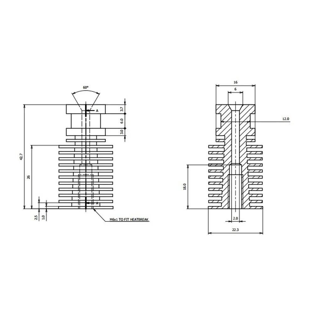 hight resolution of direct v6 j head hotend heatshrink for 1 75 3 0 mm filament