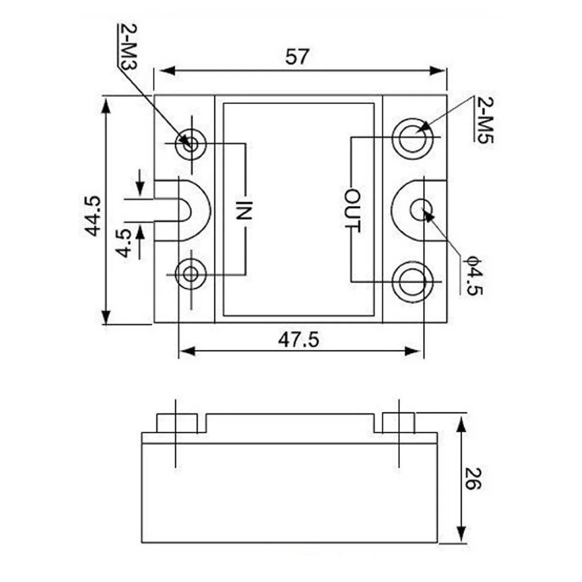 hight resolution of dc to ac ssr 40da solid state relay module 3 32 vdc 24
