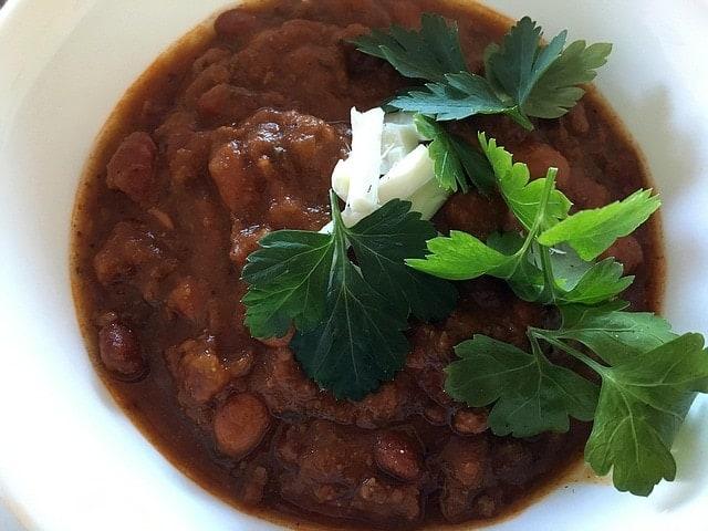 chili-with-cilantro