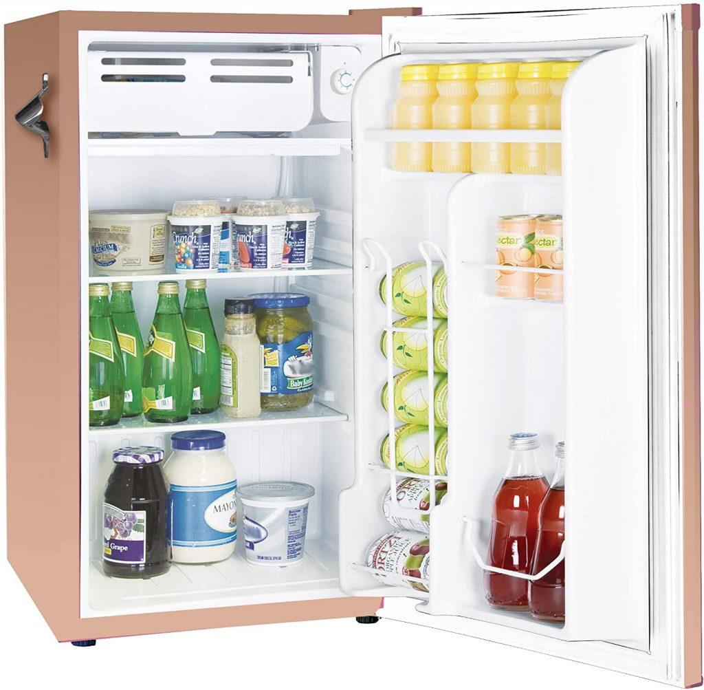 Frigidaire-EFR376-CORAL-Retro-Bar-Fridge-Refrigerator-with-Side-Bottle-Opener,-3.2 cu.-Ft