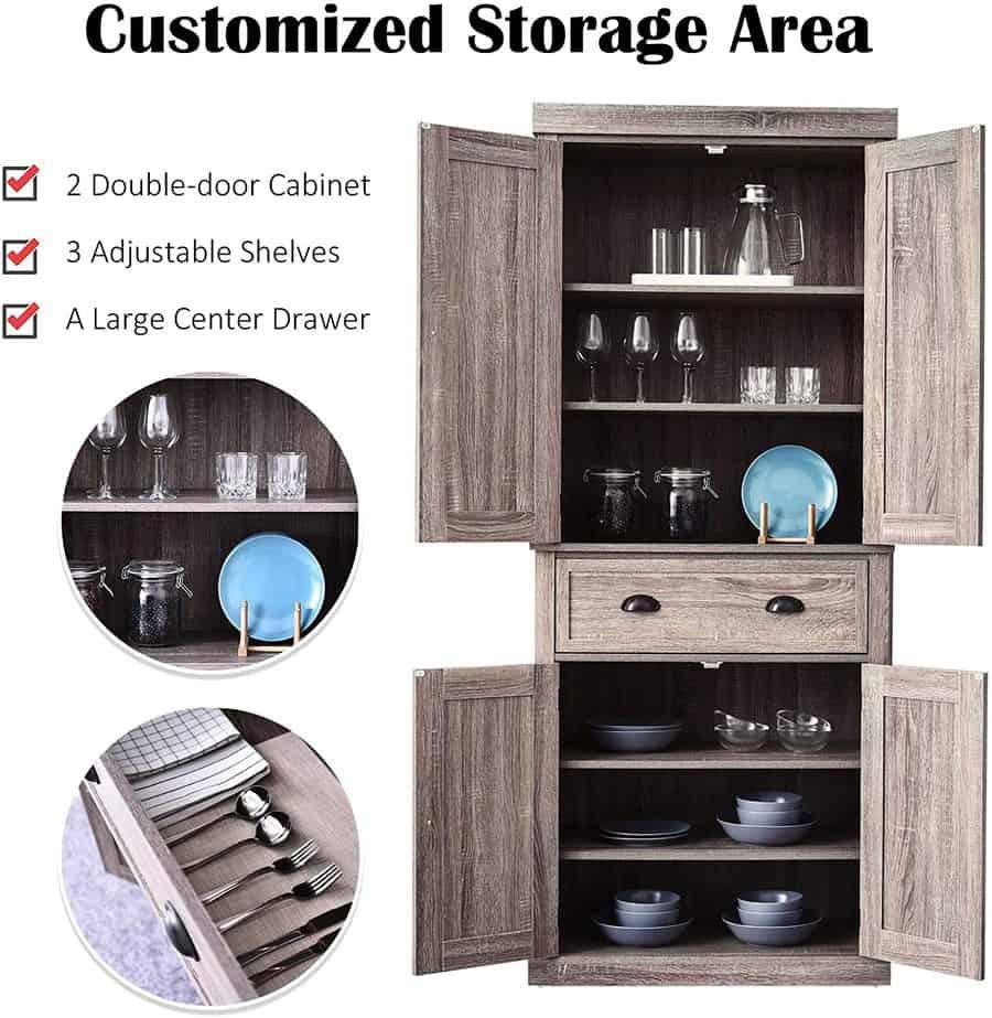 8 Best Free Standing Kitchen Pantry Cabinets 2021 Robust Kitchen