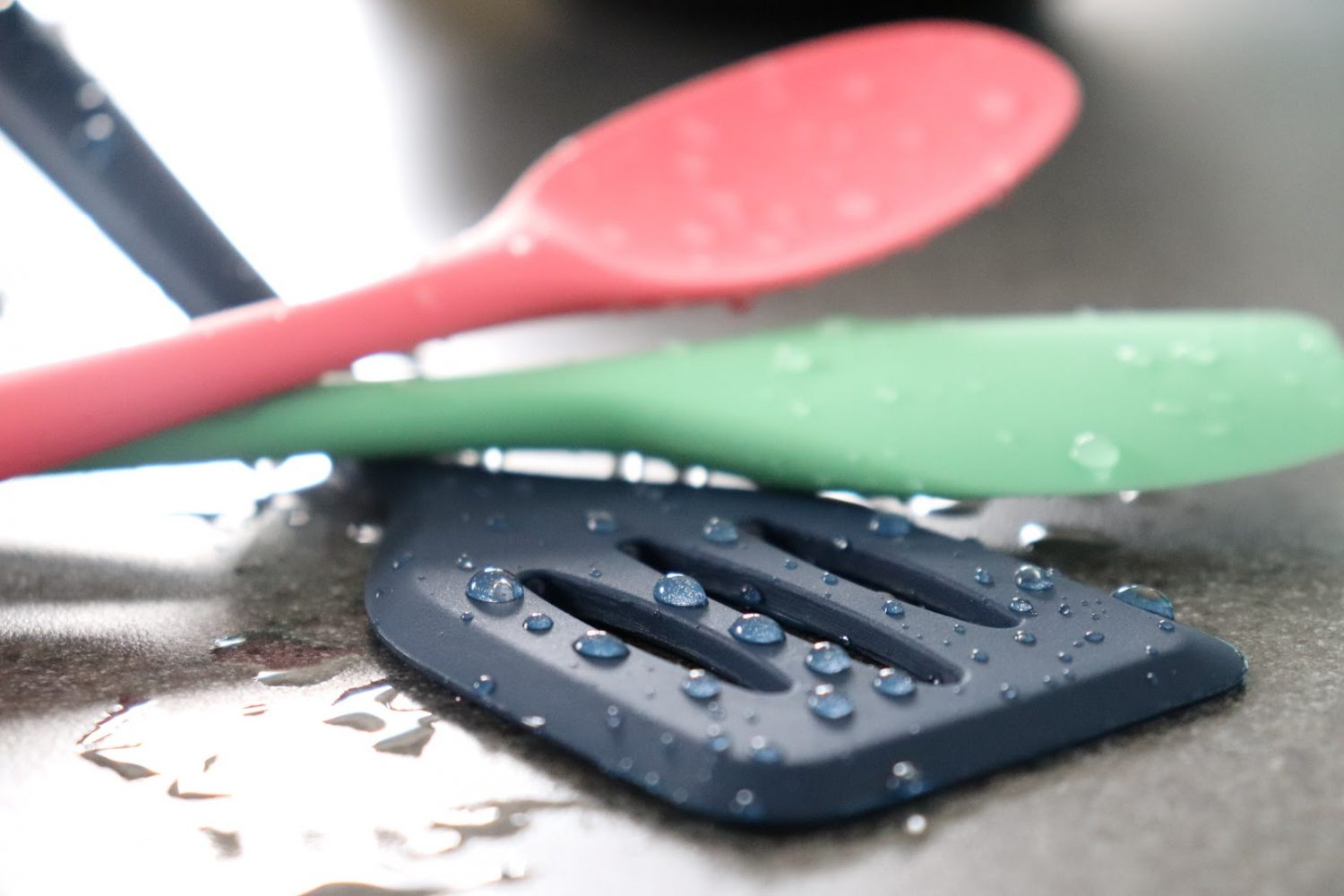 Clean silicone spoons