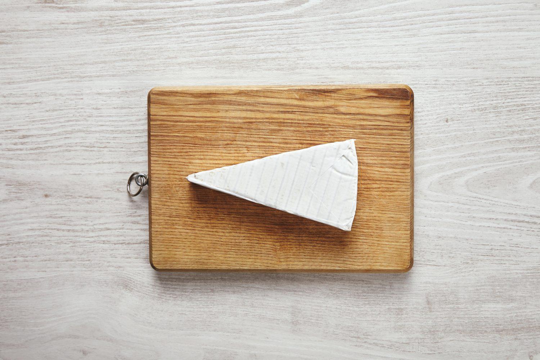 Cut Brie Cheese