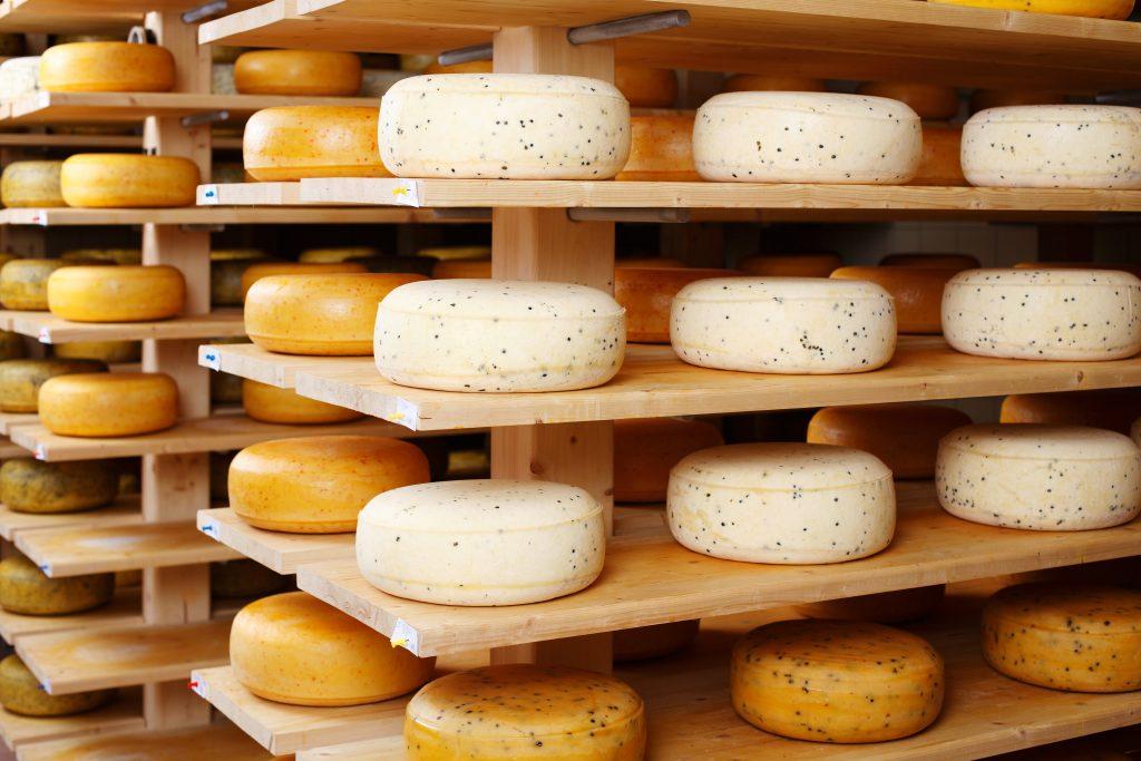 Hard Cheese on racks