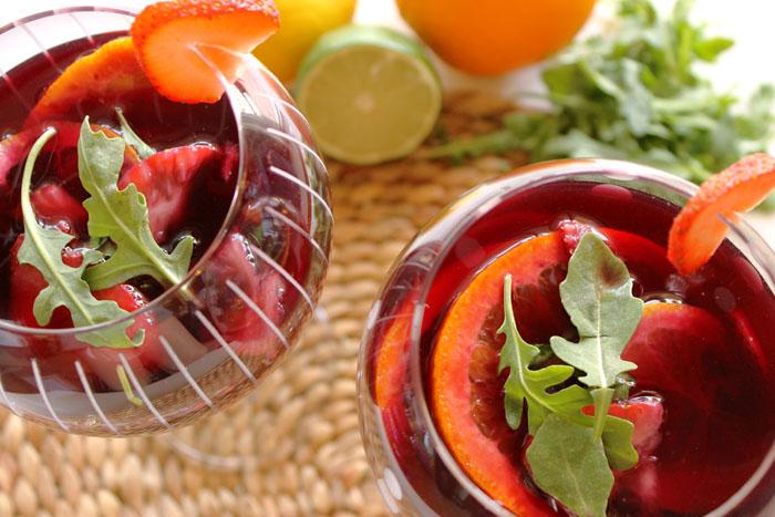 Strawberry and Arugula Sangria