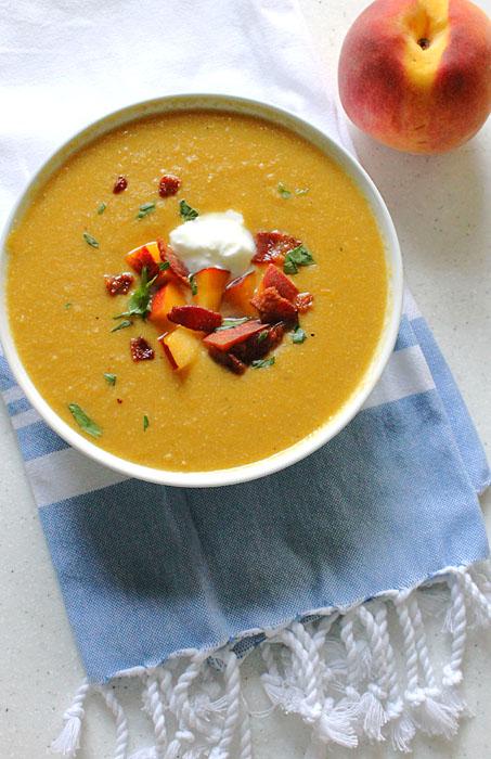 Peach and Sweet Corn Soup