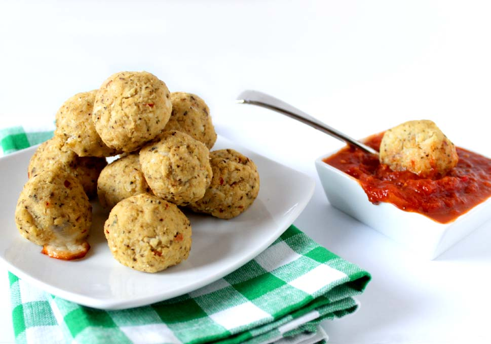 Cauliflower Balls Stuffed with Cheese