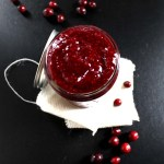 20-Minute Cranberry Chia Seed Jam.  #Vegan #Glutenfree