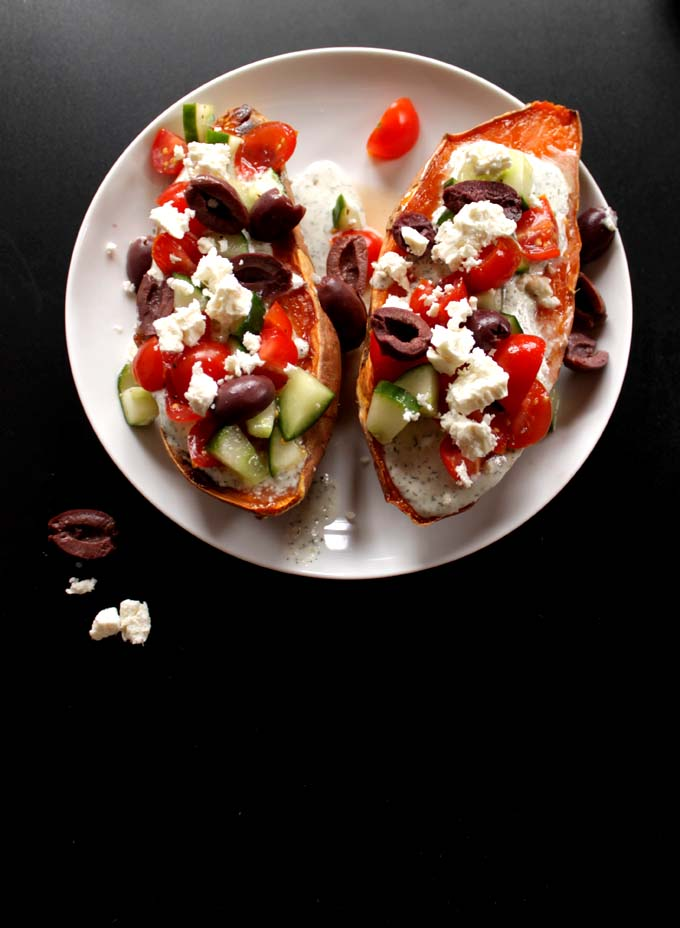Greek Sweet Potato Boats