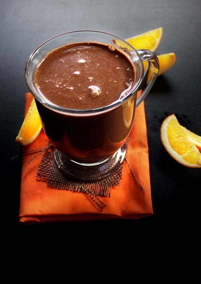 Orange Hot Chocolate #hotchocolate #glutenfree