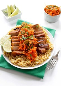 Vietnamese Pork Chops with Spicy Carrot Salad