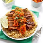 Vietnamese Pork Chops with  Spicey Carrot Salad. Simple. Healthy. Delicious. #glutenfree