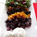 Deconstructed Honey Roasted Beet Salad with Whipped Goat Cheese. Elegent. Healthy. Flavorful #Vegetarian #goatcheese