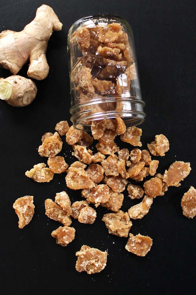 Easy DIY Crystalized Ginger. Tasy. Healthy #ginger