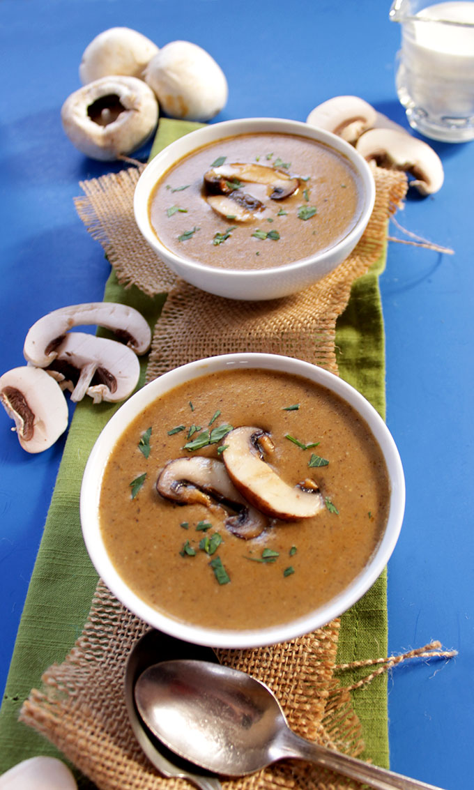 Creamy Mushroom Soup. #Glutenfree #Soup #Vegetarian