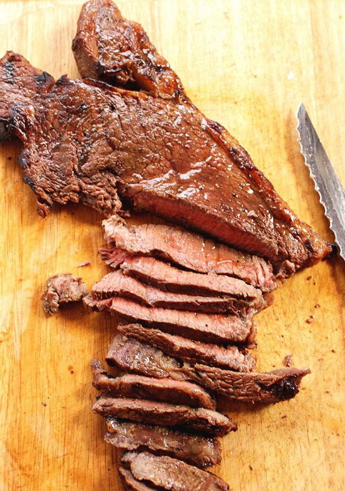 Steak for Zucchini and Portobello Steak Fajitas