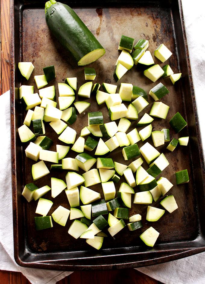 Zucchini for Zucchini and Portobello Steak Fajitas.